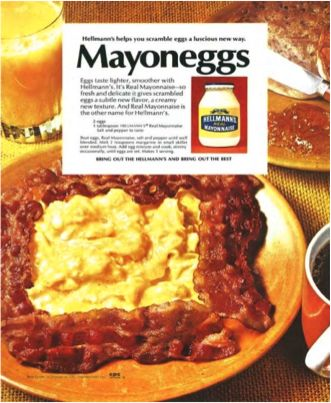 Grandma's secret recipe from back in the day? Have you tried Mayoneggs?