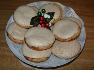 Hertzog Cookies....traditional cookie from South Africa named after one of their prime ministers.....apricot jam and coconut among other ingredients
