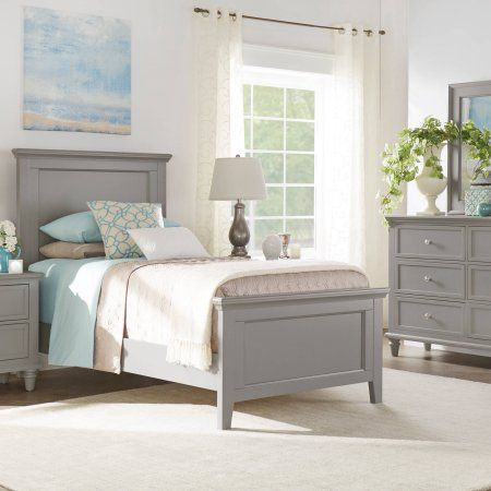 Chelsea Lane Elise Twin Size Bed, Multiple Colors, White
