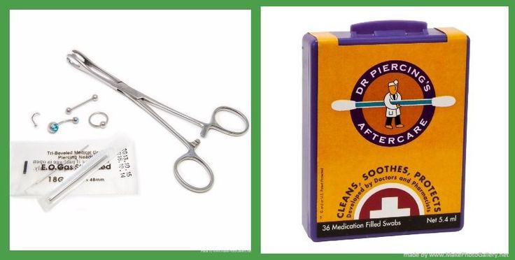 Body Piercing Kit Tongue, Lips, Nose and Nipples| DR. PIERCING'S AFTERCARE SWABS #BodyJewerly
