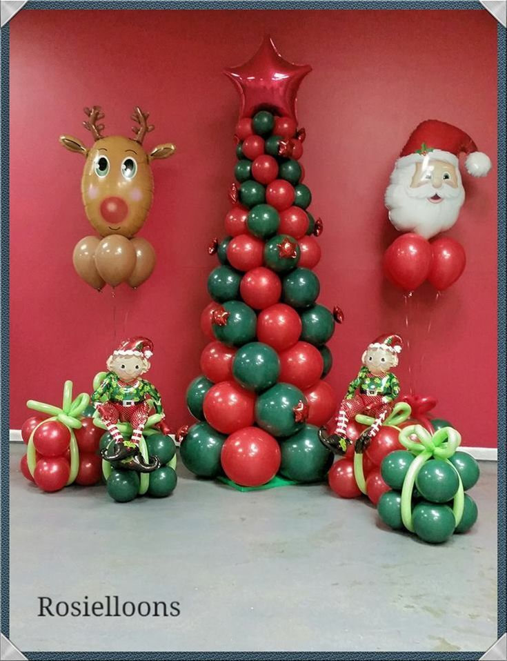 Balloon Christmas Decoration Christmas Balloon Decorations Christmas Balloons Balloon Decorations Party