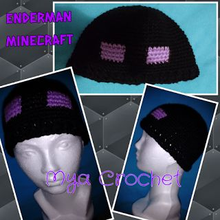 MYA CROCHET: Gorro Enderman Minecraft