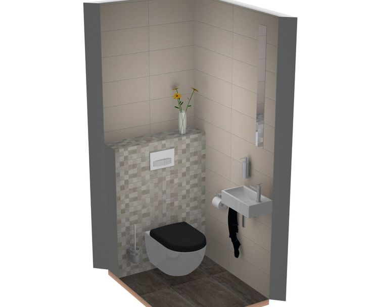 51 best images about toilet ide en on pinterest toilets wands and modern toilet - Tegel toilet idee ...