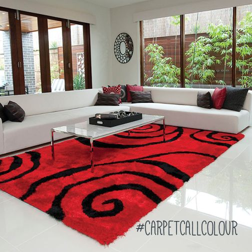 Get the blood pumping (literally) with a red rug.