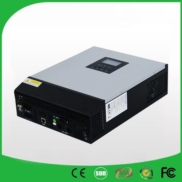 48VDC 5000VA Peak Power 10000VA Pure Sine Wave Solar Hybrid Inverter Built-in 50A PWM Controller  LCD Display