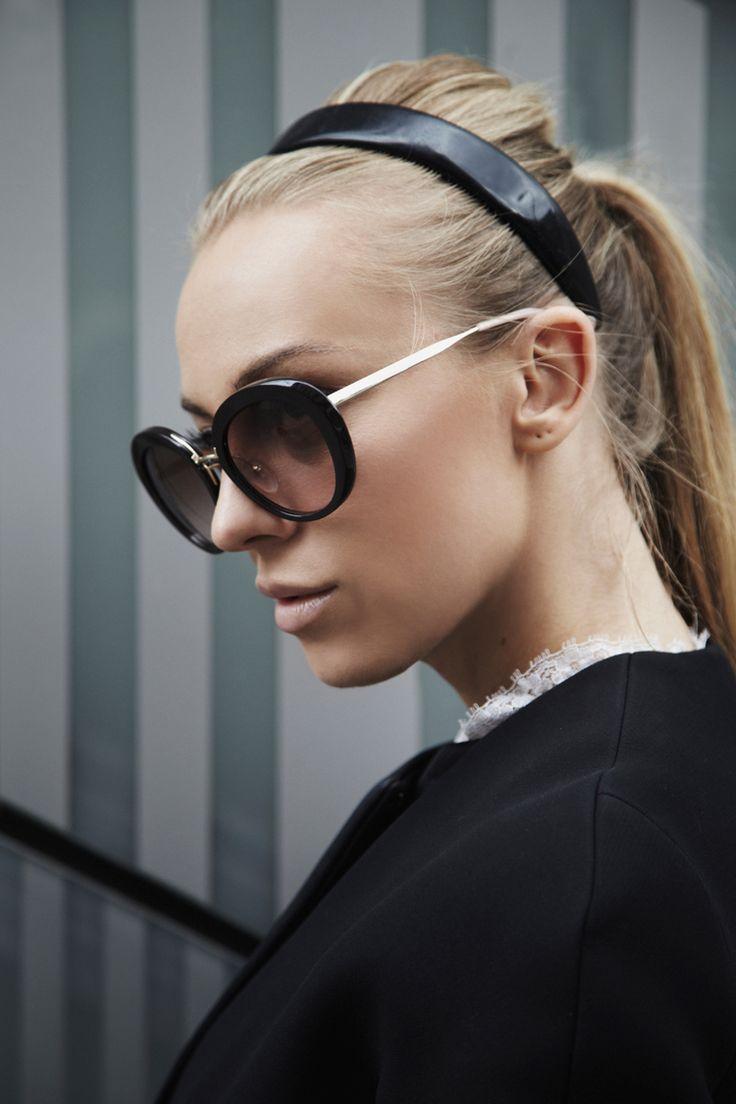 PRADA 16QS Cinema sunglasses via Sunglasses ShopBALENCIAGA coatVINTAGE…