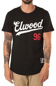 Elwood The Elwood 96 Baseball Curved Hem Tee in Black