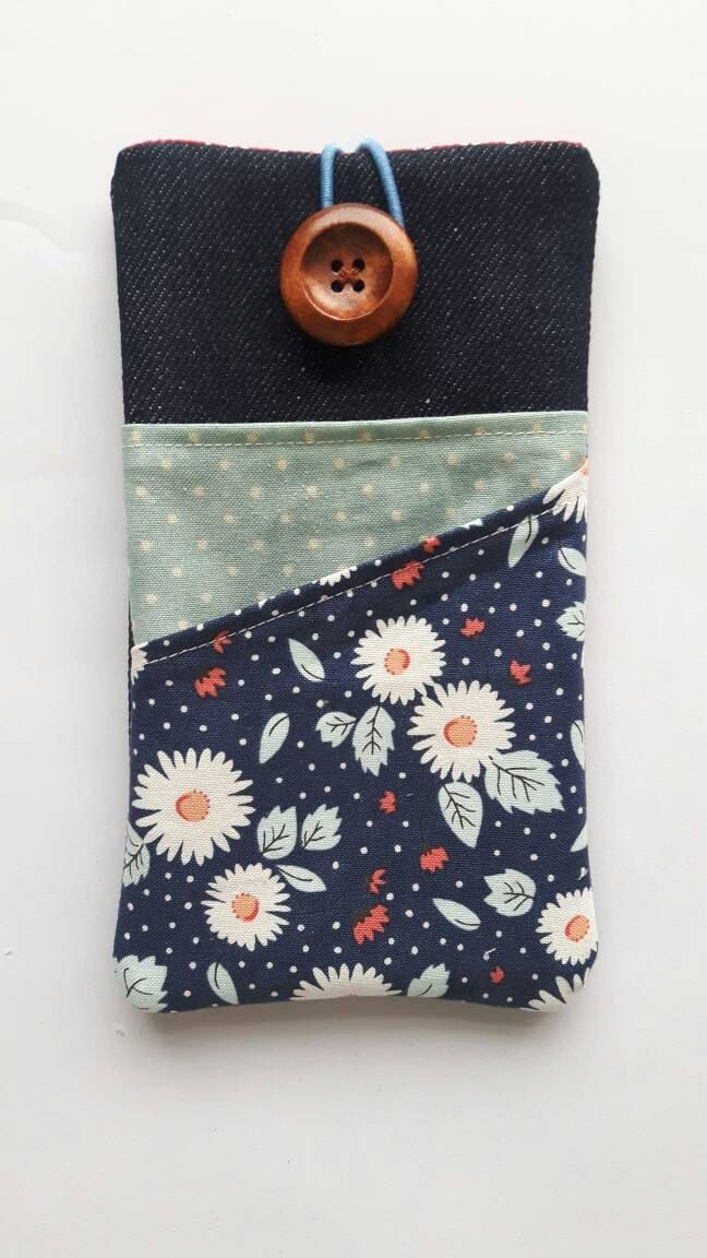Samsung Galaxy S7 Edge fabric pouch iPhone 4 case iPhone 6 Plus sleeve iPhone 6S cover Galaxy S6 Sony Experia, Microsoft Lumia 950 Nexus by CurlyEmmaEmbroidery on Etsy