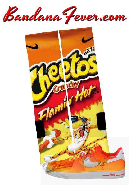 Custom Nike Elite Socks Cheetos Crunchy, #elites, #elitesocks, by Bandana Fever
