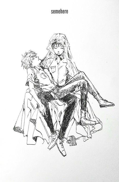 Imagen de Neon Genesis Evangelion, shinji, and kaworu