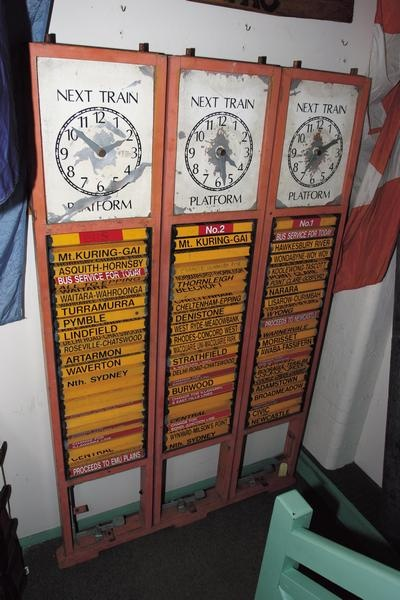 Old rail destination boards - there's a railway museum in the Blue Mtns that has these!!