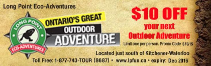 Long Point Eco Adventures coupon - $10 OFF