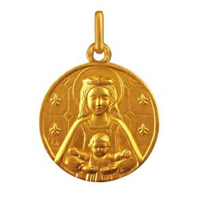 Médaille de bapteme Notre Dame des tout petits