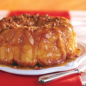 Overnight Caramel-Pecan Bread   This brunch-meets-dessert favorite takes about five minutes to prep. After that, all you need to do is bake it the next morning and enjoy it while it's nice and warm. If you choose to add vanilla ice cream, even at breakfast, that's your business; we won't tell!