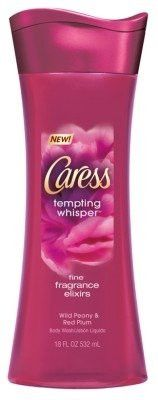 Caress Body Wash 18oz Tempting Whisper (Fragrance Elixirs) (3 Pack)