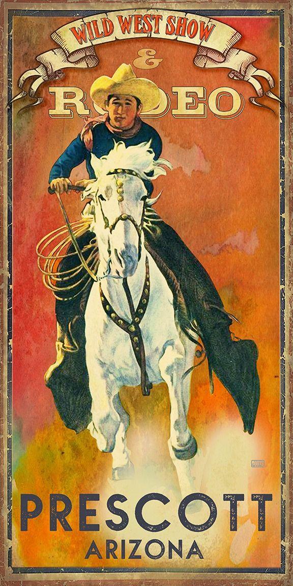 prescott arizona rodeo poster
