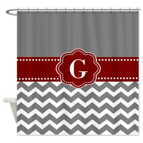 red and navy shower curtain. Gray Dark Red Chevron Monogram Shower Curtain Best 25  shower curtains ideas on Pinterest 84