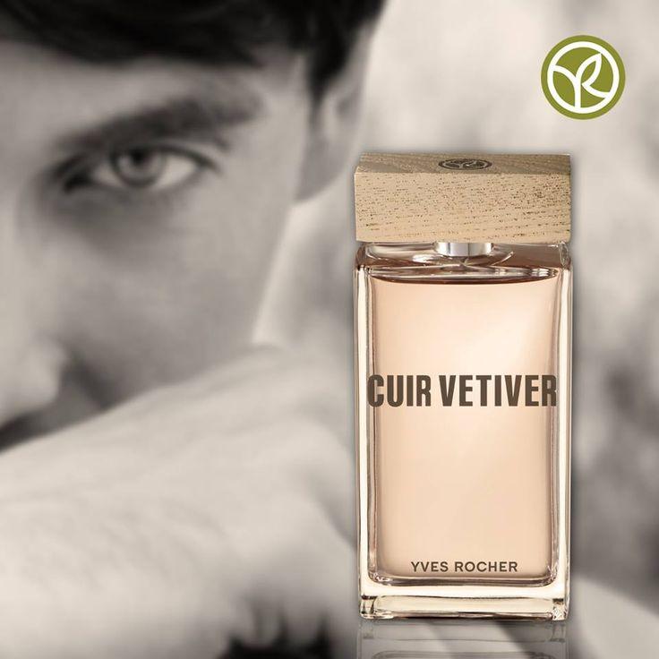 La combinación de aromas de la nueva fragancia Cuir Vetiver le da a papá destellos de elegancia.