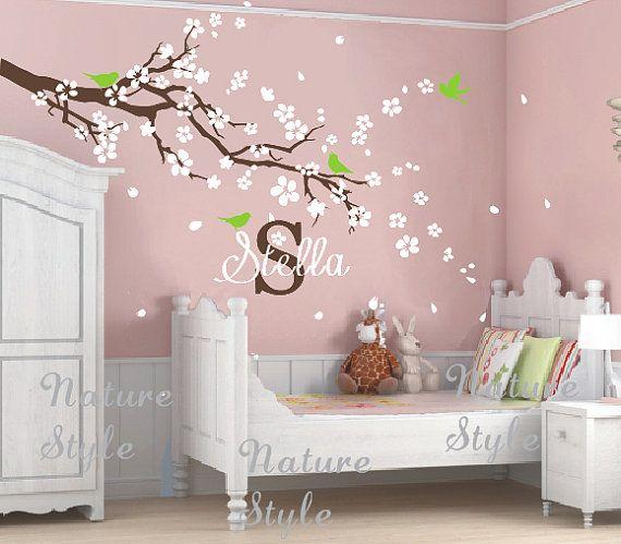 flowers wall decals cherry blossom vinyl wall von NatureStyle, $52.00
