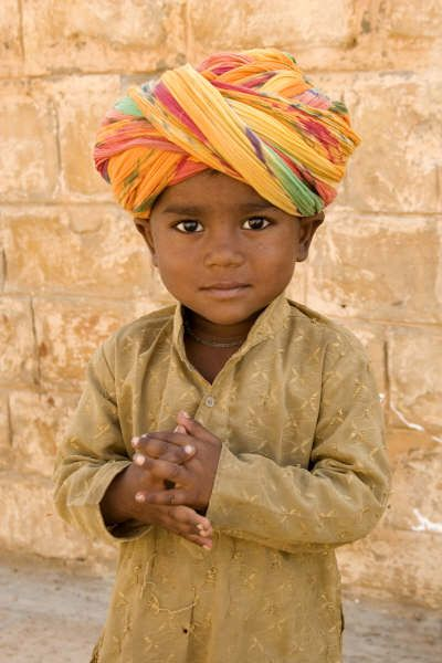 Jaipur cutest little thing (people, portrait, beautiful, photo, picture, amazing, photography, boy, turban, kid, child)