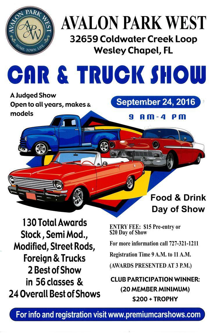 Avalon Park Westu0027s 1st Car And Truck Show   Wesley Chapel, FL Septemmber 24,  Car Flyers