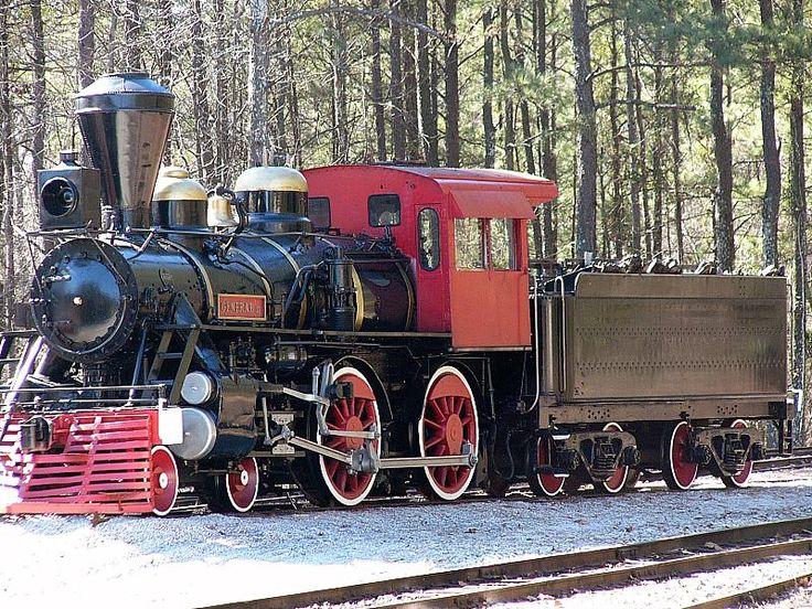 Restored Civil War Train Engine at Stone Mountain Park, Georgia