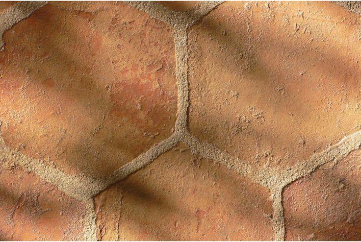 Side hexagonal terracotta tile 14 cm
