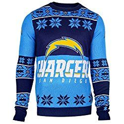 Klew Ugly Sweater San Diego Chargers, XX-Large