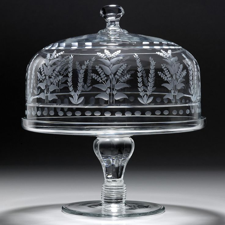 "William Yeoward Crystal ""Portia"" Cake Stand & Dome, 12"" 