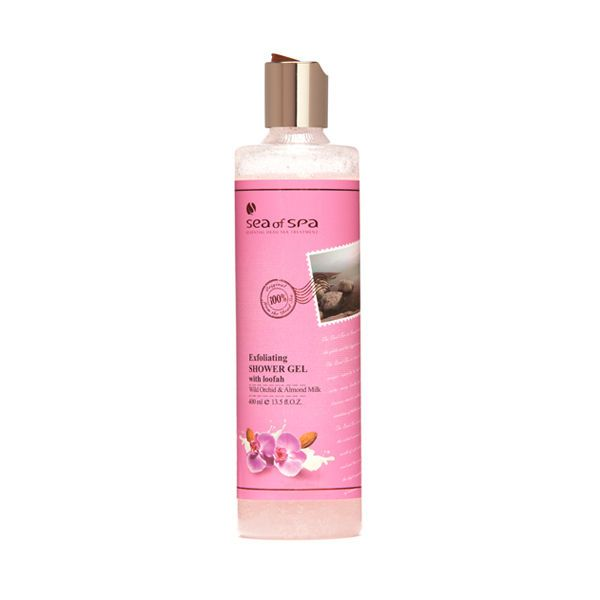Dead Sea Exfoliating Shower Gel Orchid & Almond Milk Sea Of Spa 400ml #SeaOfSpa