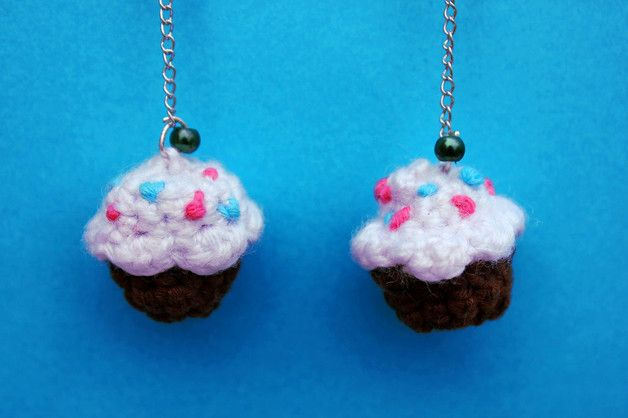 Dangle Earrings – Cupcake shaped earrings – a unique product by DanyCream on DaWanda
