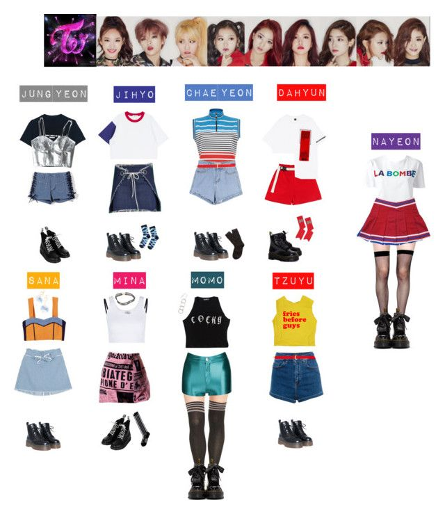 TWICE -I'm gonna be a start♡️💜💛💚💙 by vvvan99 on Polyvore featuring polyvore fashion style Être Cécile MSGM Beth Richards WithChic Moschino Yummie by Heather Thomson Pull&Bear Lip Service Brooks Brothers Topshop KTZ Dr. Martens Topman Stussy INC International Concepts clothing