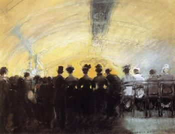 Back Row, Follies Bergere - Everett Shinn - The Athenaeum