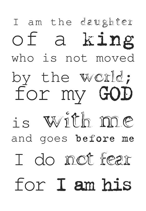 Daughter of God King Quote Spiritual Christian by iCandyProducts