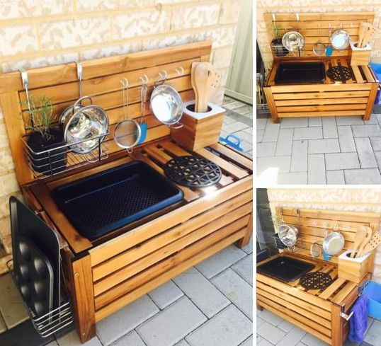 Kmart Storage Bench Hack - Mud Kitchen