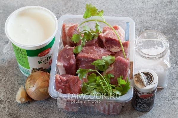 Ингредиенты для маринада для шашлыка из свинины на кефире