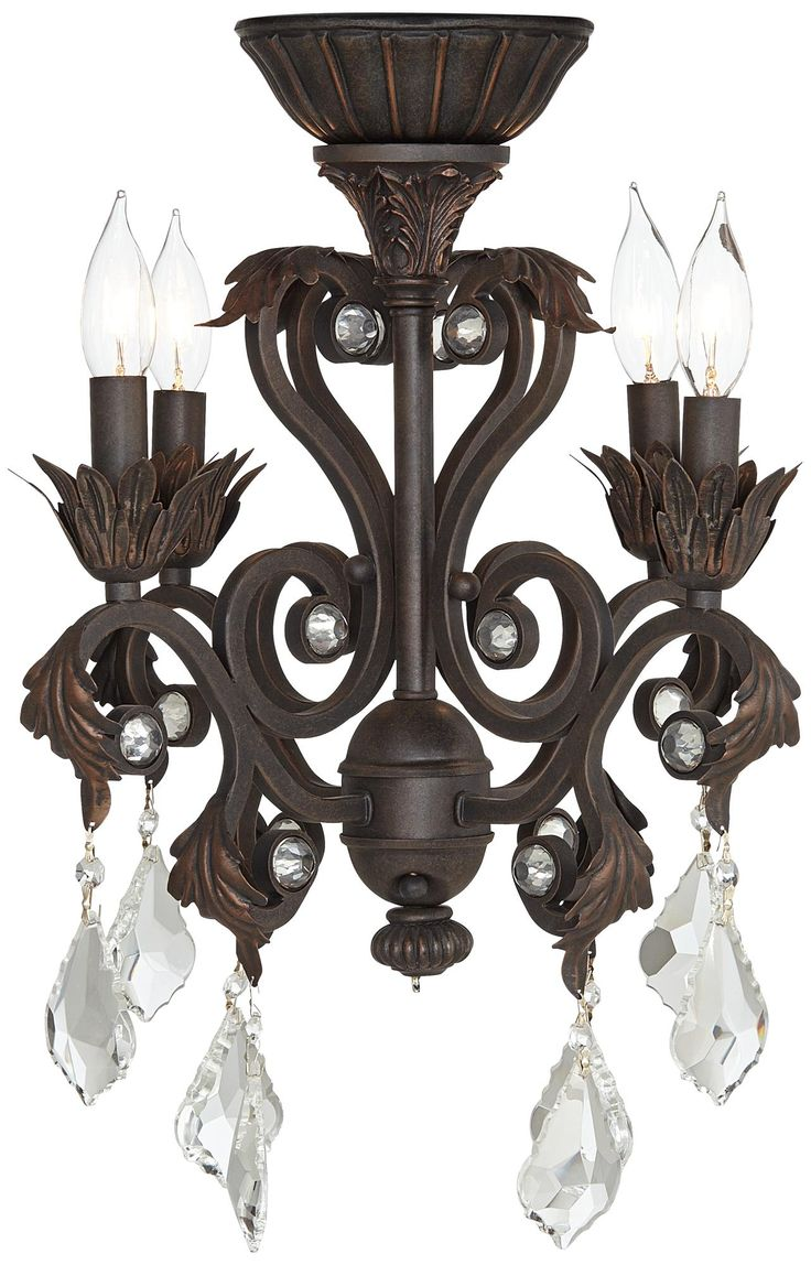 4 Light Oil Rubbed Bronze Chandelier Ceiling Fan Light Kit