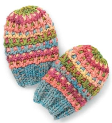 Basic Knitting Pattern For Baby Mittens : 17 best images about Crochet Baby Mittens Patterns on ...