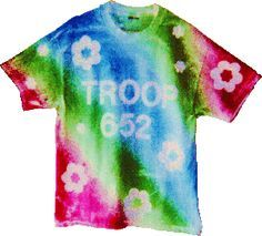 With this method, troop T-shirts can be made to look like tie-dye with less mess and less time.