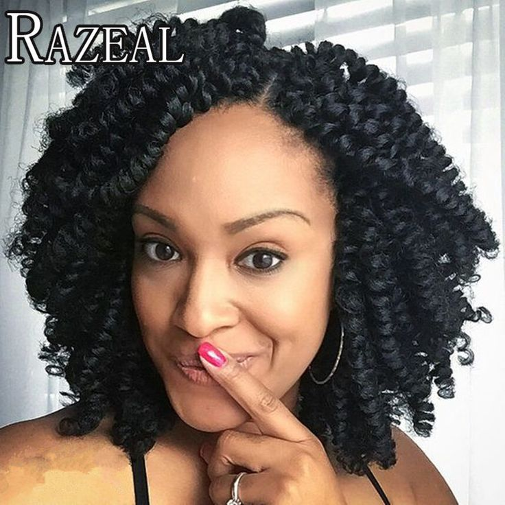 """Razeal 8 """"80 g/pz carrie arricciatura afro kinky twist trecce di capelli crochet bacchetta curl intrecciatura crochet estensioni dei capelli"""