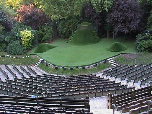 Open air theatre in Regent Park (London) - it was fun to actually watch The Taming of the Shrew done in open air theater style.