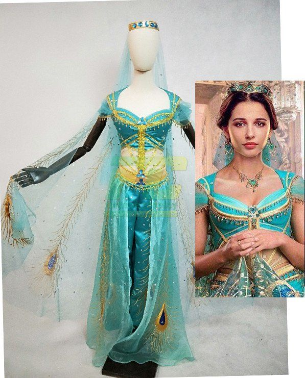 Lamp of Aladdin Jasmine Princess Dress Red Made dress Cosplay Costume