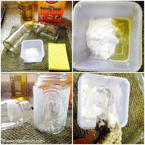 Como remover facilmente las etiquetas y el pegamento de los frascos y botellas