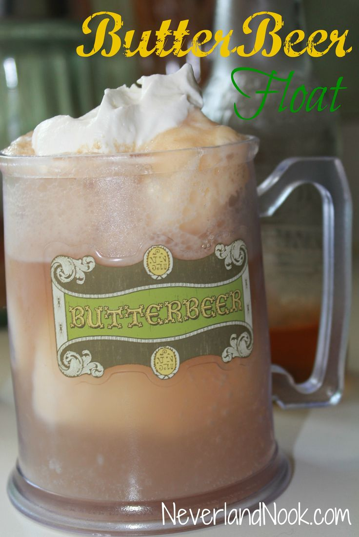 Just when you thought Harry Potter recipes couldn't get any better, this recipe for Butterbeer floats comes along!