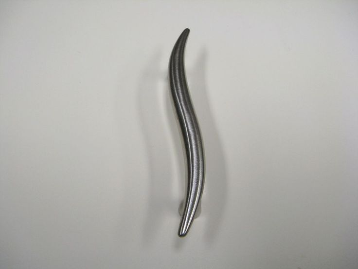 KITCHEN HANDLES, S DESIGN BRUSHED STAINLESS COLOUR 64mm SCREW HOLE, 95mm LONG