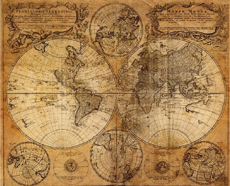 Amazon.com: Sannysis Vintage Style Retro Cloth Poster Globe Old World Nautical Map Gifts: Industrial & Scientific