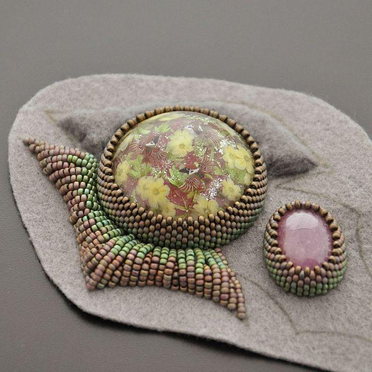 by Alla Maslenikova - raised embroidery