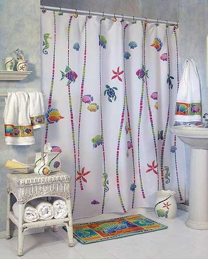 20 best images about beach bathroom decor inspiration on for Bathroom fish decor
