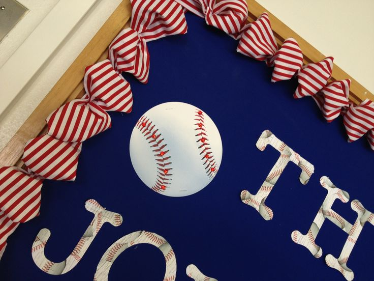 Baseball bulletin board-close up
