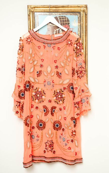 Coral dress  - more coral peach tangerine salmon and orange here: http://mylusciouslife.com/colour-me-coral/